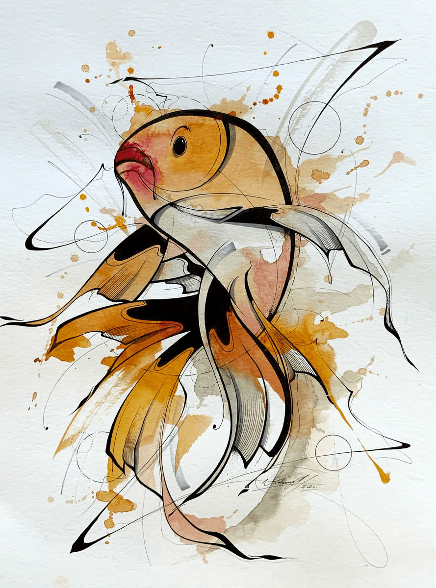 Painting from a fish